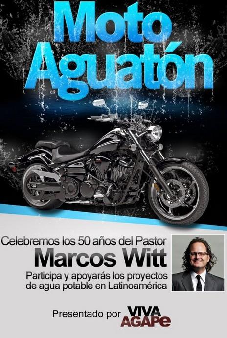 Afiche Moto Aguatón con Marcos WItt  