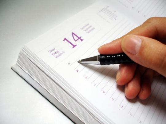 Escribiendo en una Agenda