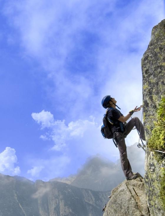 Perseverancia - Alpinista Escalando