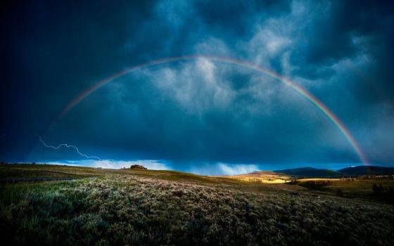 Arcoiris En La Lluvia