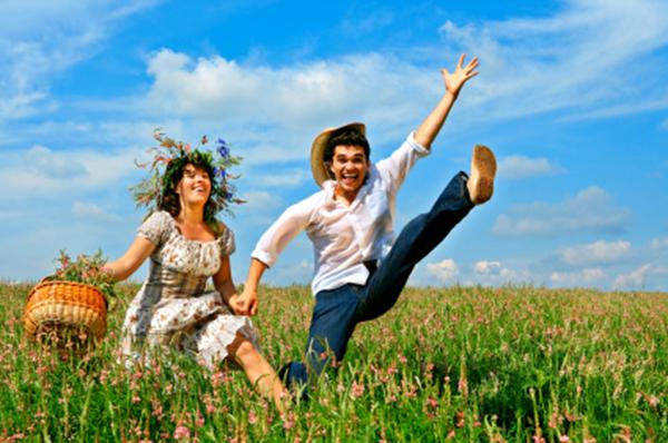 Hombre y Mujer - Felices