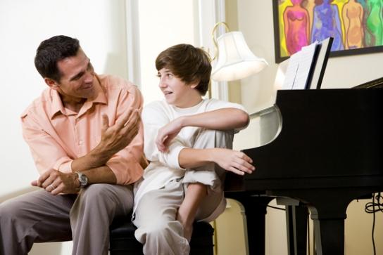 Padre e Hijo - Platicando
