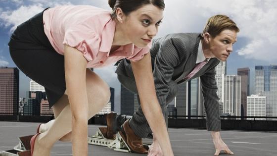Hombre - Mujer - Trabajo - Carrera