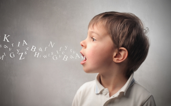 Niño - Boca - Palabras - Letras