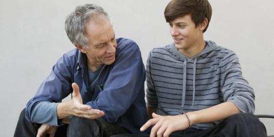 Padre e Hijo Platicando